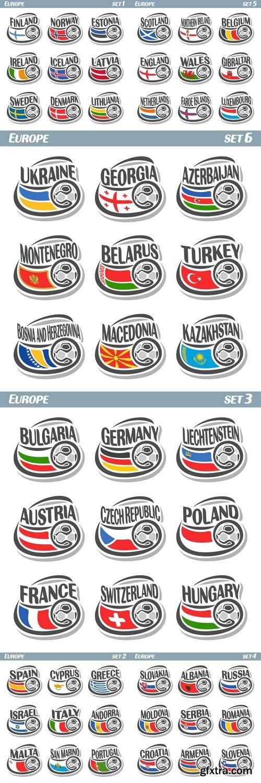 Vector logo for European football