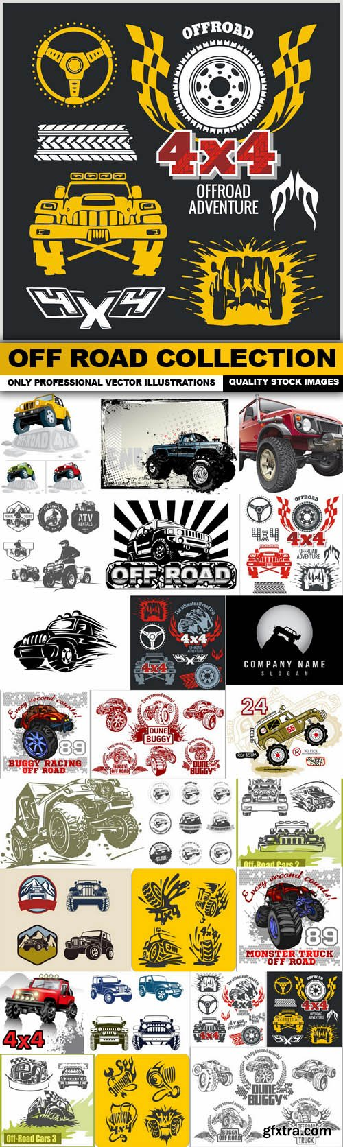 Off Road Collection - 25 Vector