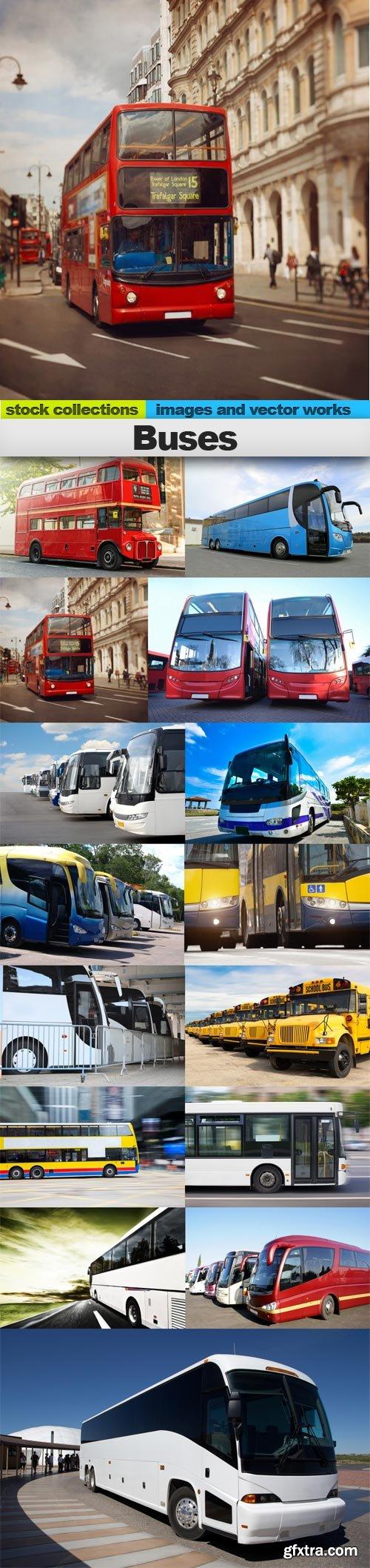 Buses, 15 x UHQ JPEG