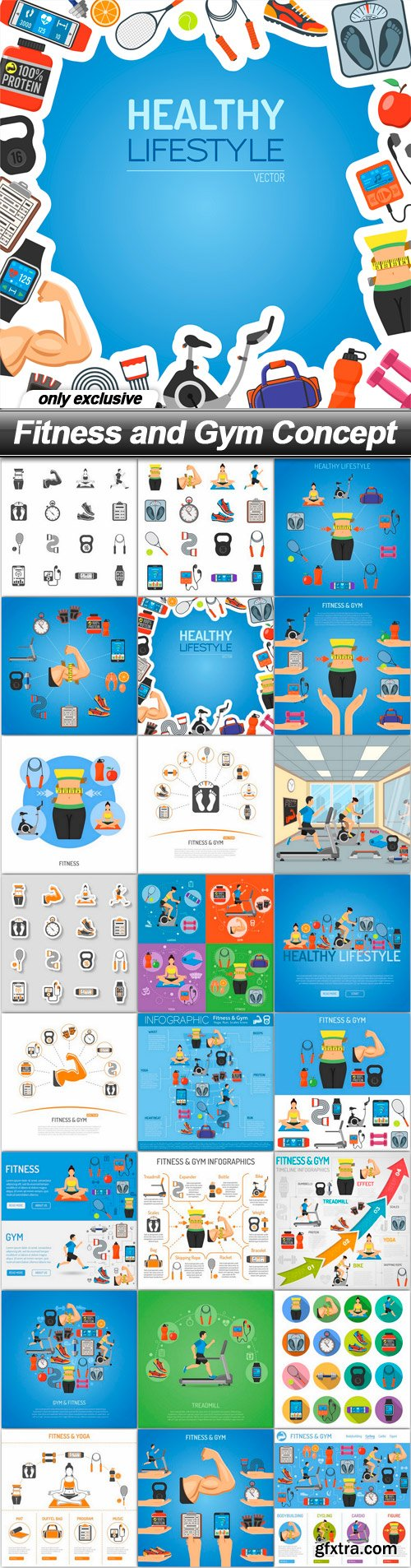 Fitness and Gym Concept - 24 EPS
