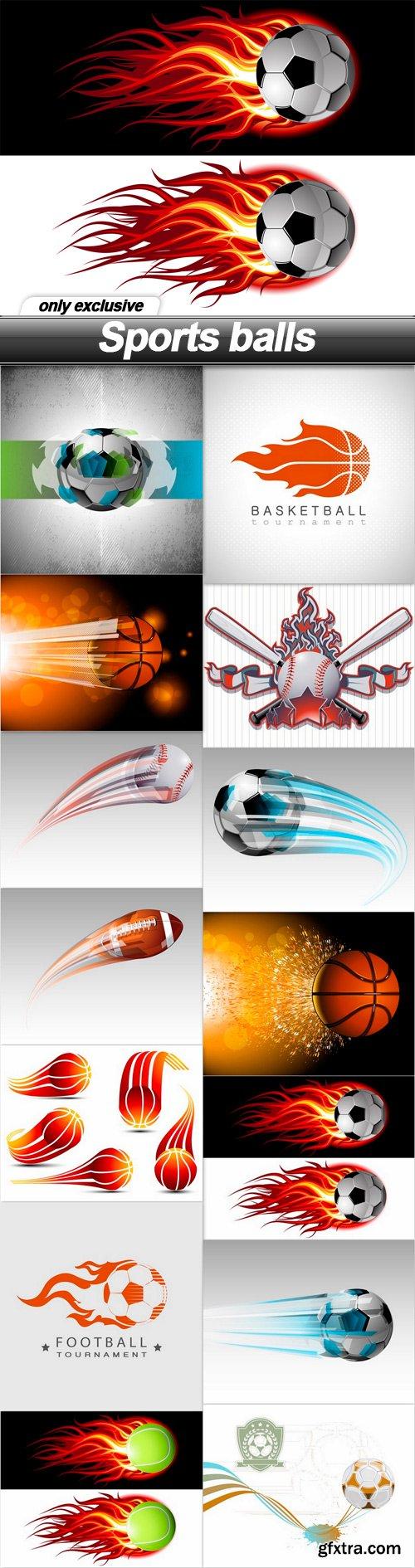 Sports balls - 14 EPS