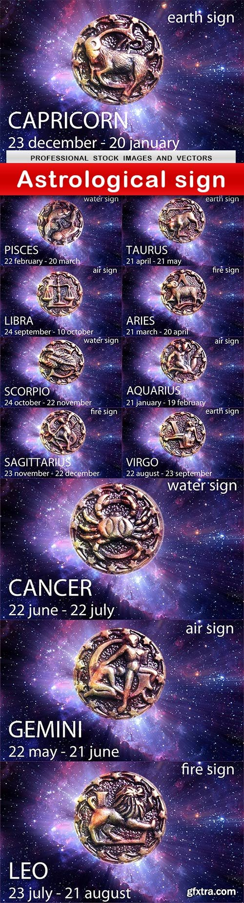 Astrological sign - 12 UHQ JPEG