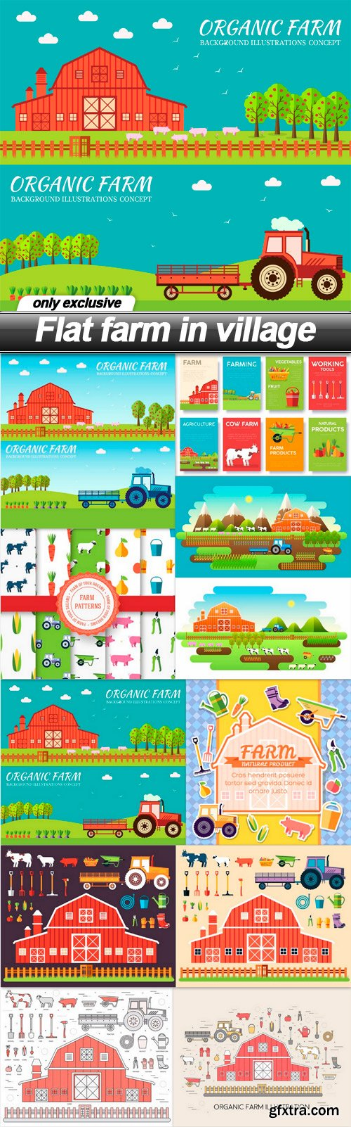 Flat farm in village - 10 EPS