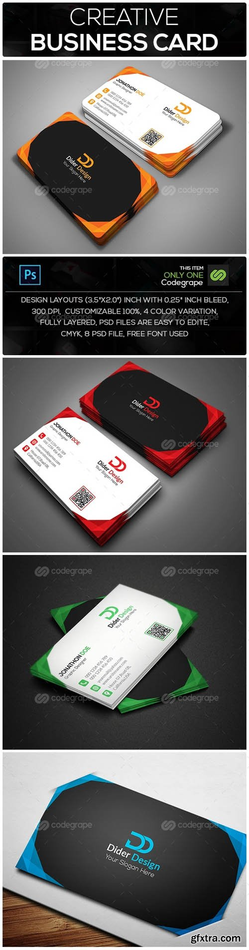 Vector photoshop psdafter effects tutorials template 3d page creative business card 8794 reheart Image collections