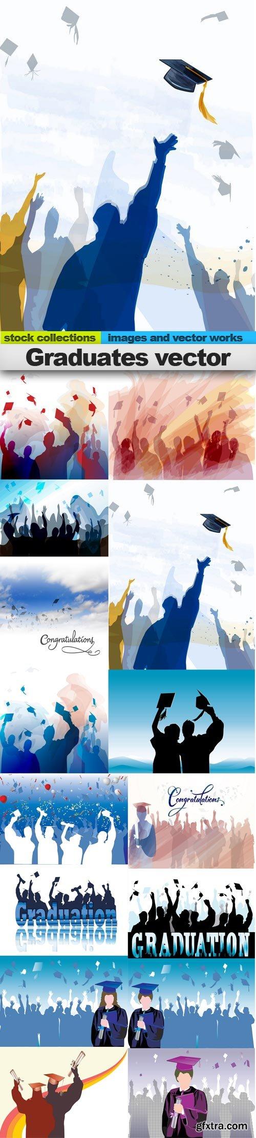 Graduates vector, 15 x EPS