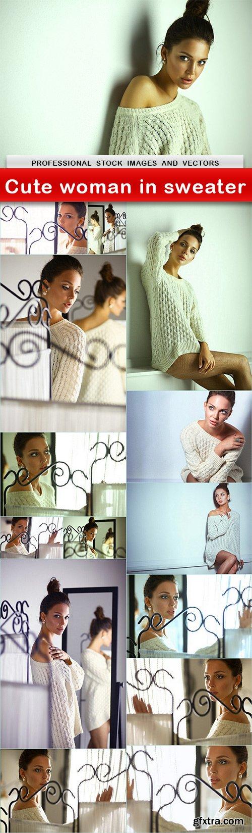 Cute woman in sweater - 15 UHQ JPEG