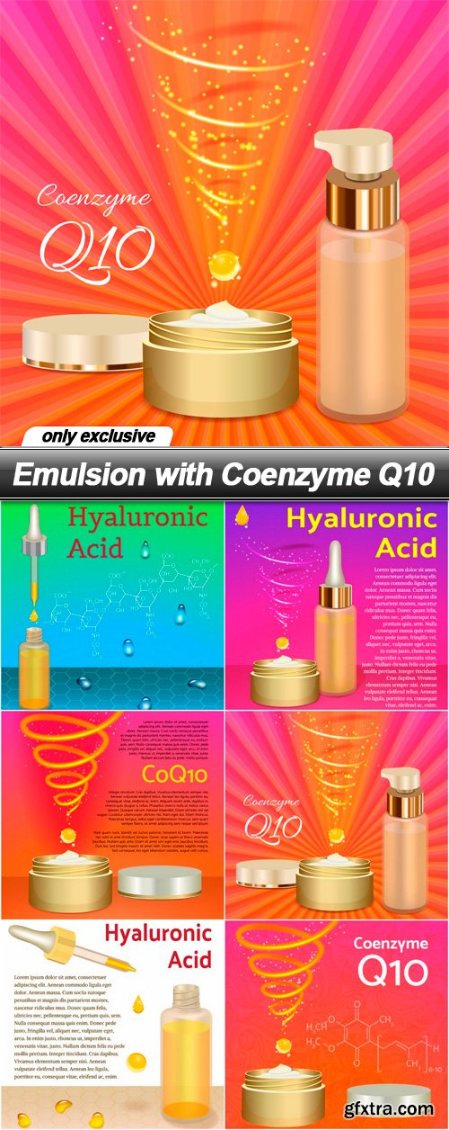 Emulsion with Coenzyme Q10 - 6 EPS