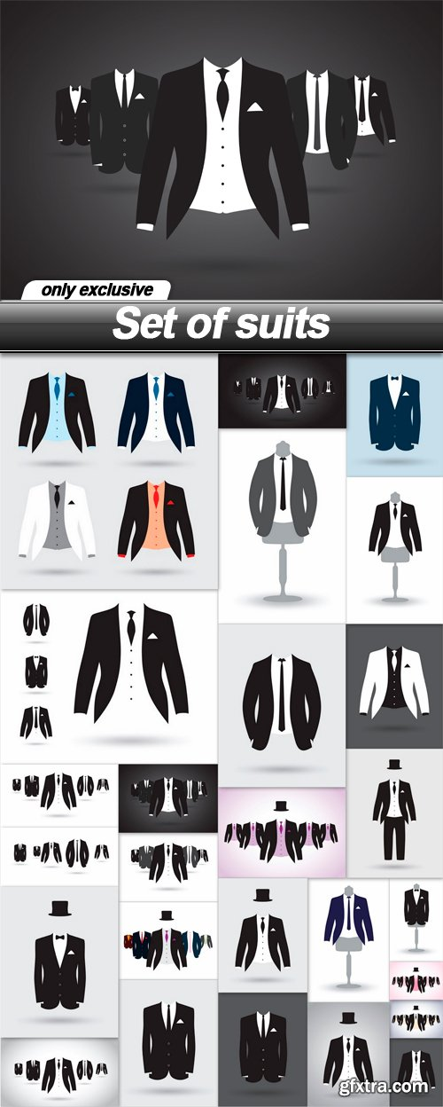 Set of suits - 26 EPS