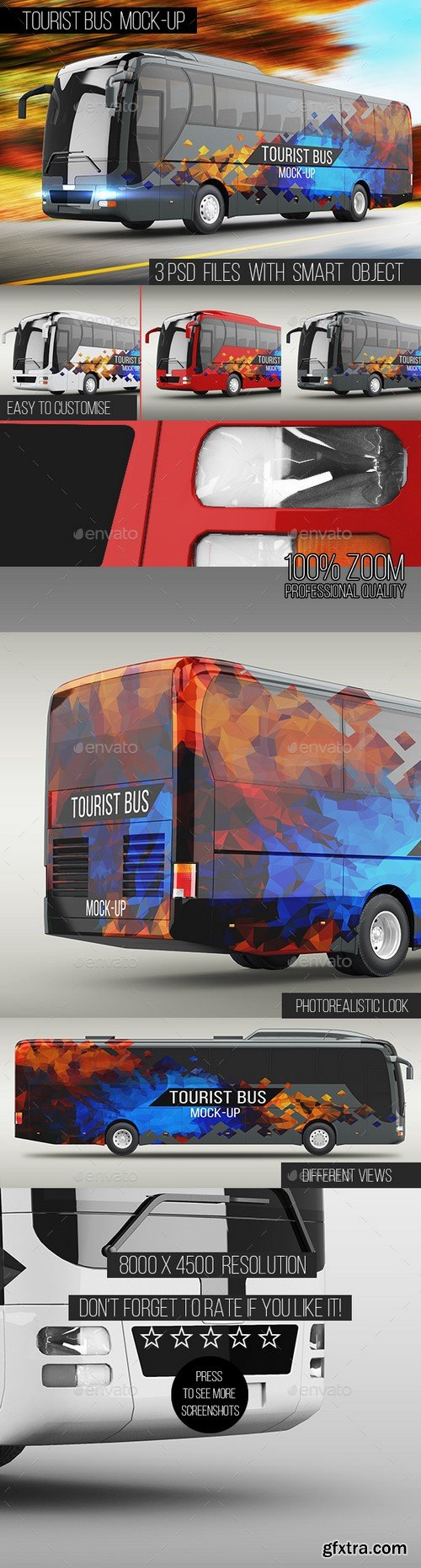 Graphicriver - Tourist Bus Mock-Up - 16130721