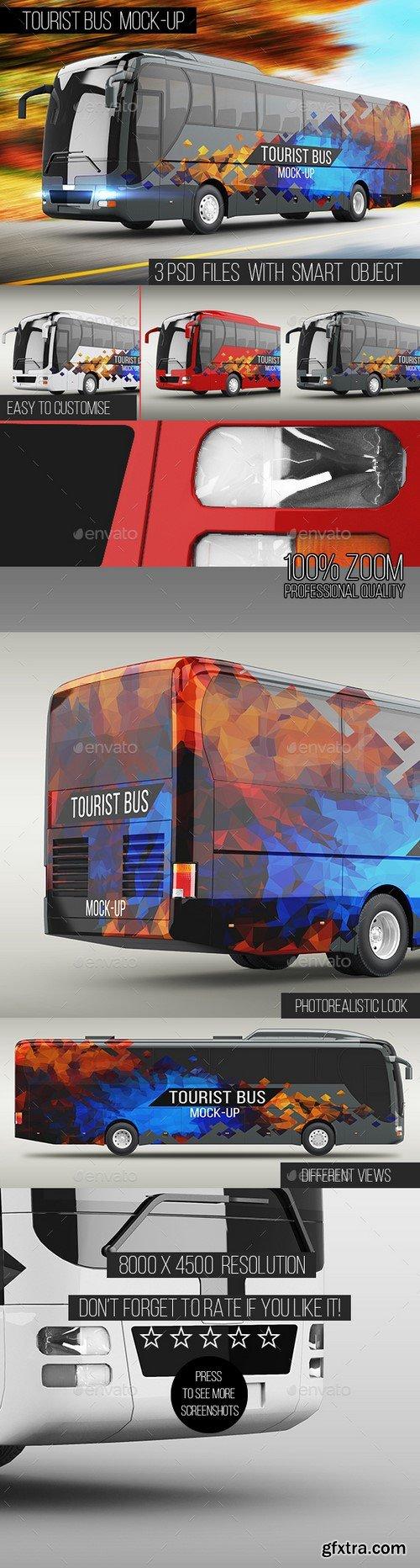 Graphicriver - Tourist Bus Mock-Up - 16130721