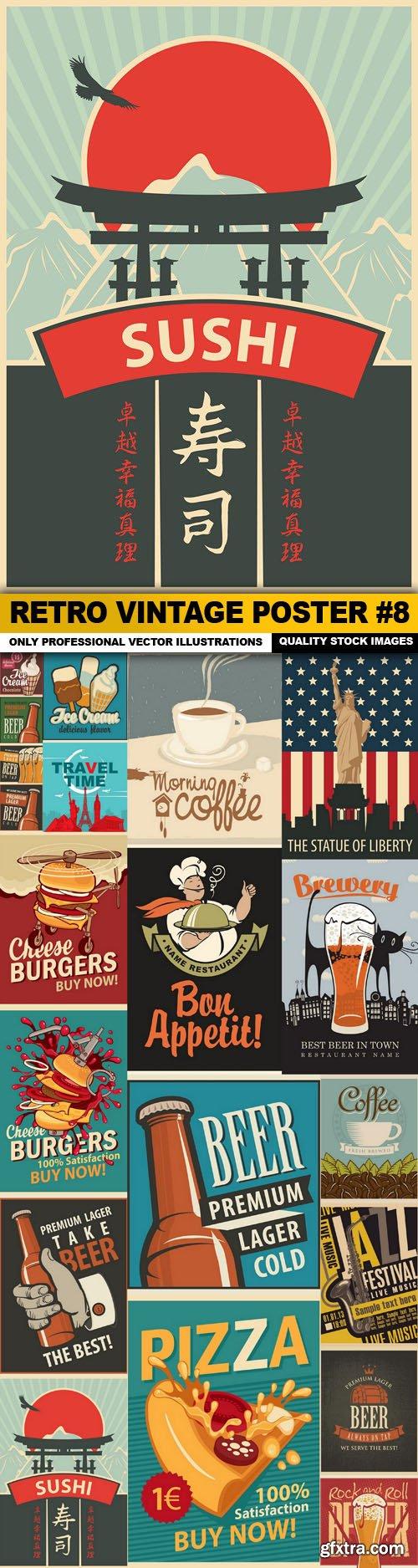 Retro Vintage Poster #8 - 20 Vector