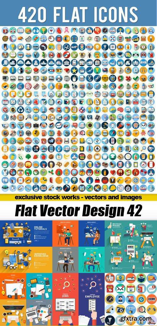 Flat Vector Design 42 - 25xEPS