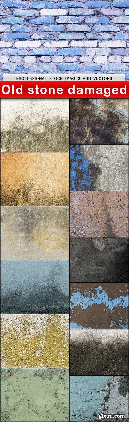 Old stone damaged - 14 UHQ JPEG