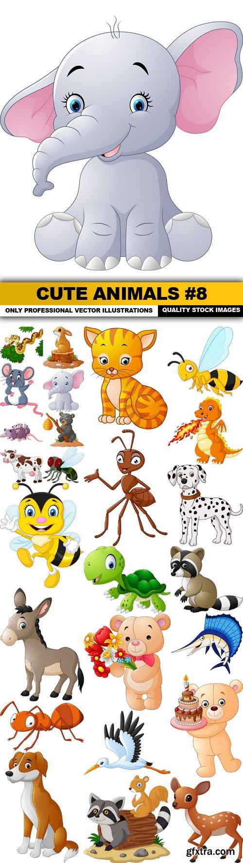 Cute Animals #8 - 25 Vector