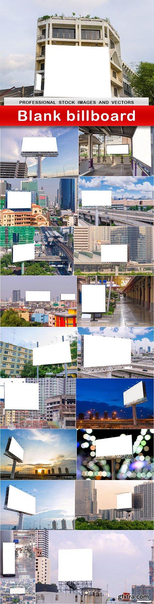 Blank billboard - 20 UHQ JPEG