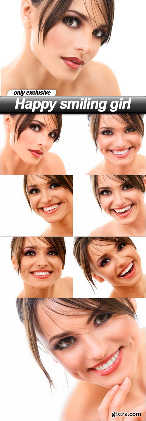 Happy smiling girl - 7 UHQ JPEG