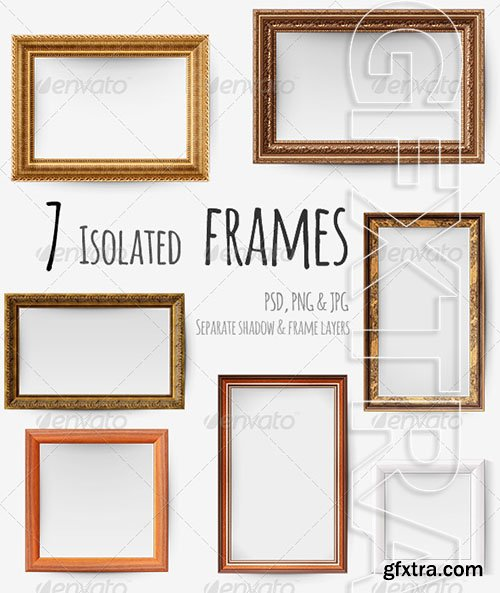 Graphicriver - 7 Isolated Picture Frames 8529796