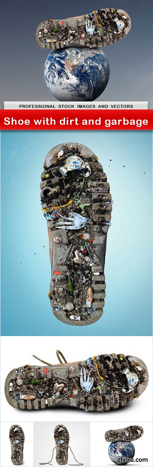 Shoe with dirt and garbage - 6 UHQ JPEG