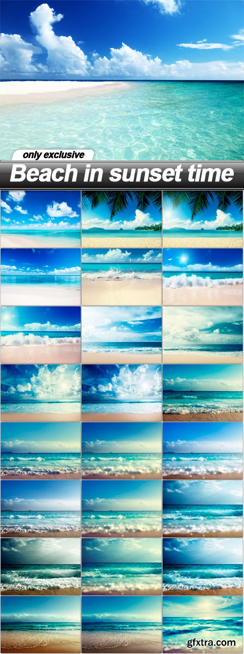 Beach in sunset time - 25 UHQ JPEG