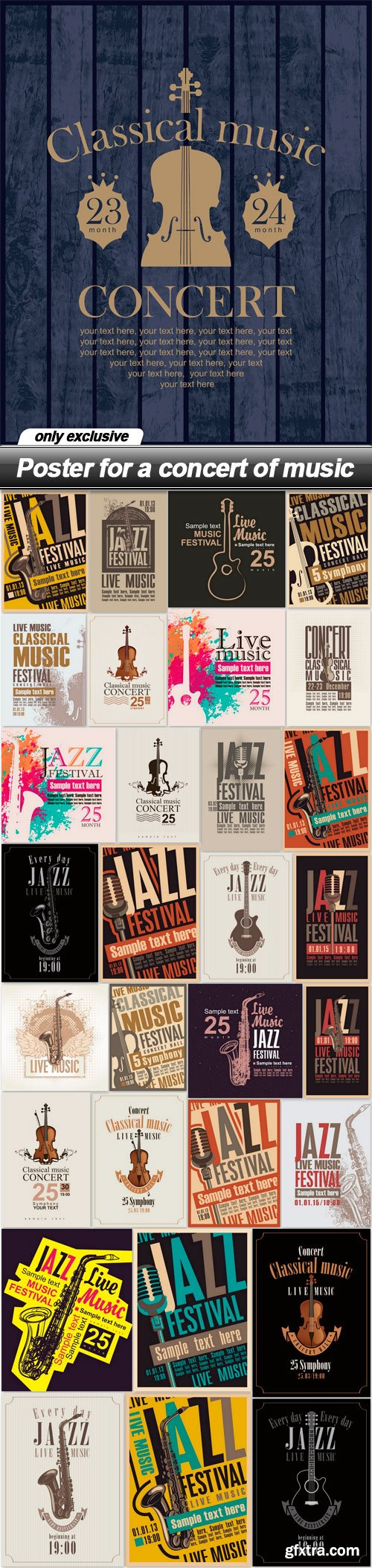 Poster for a concert of music - 31 EPS