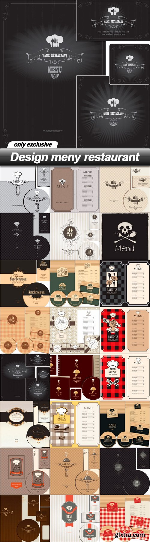Design meny restaurant - 25 EPS