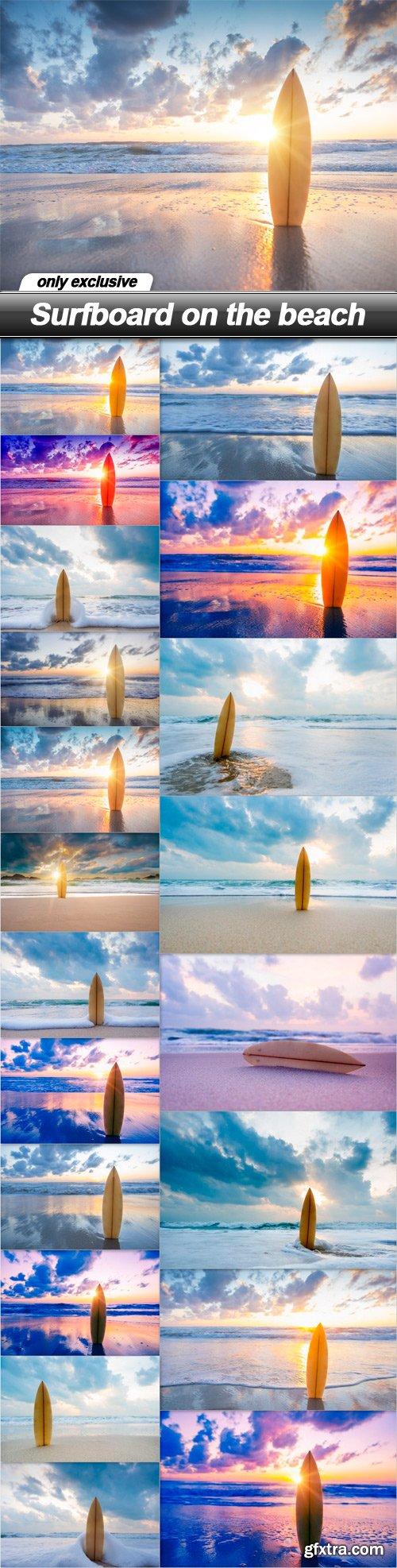 Surfboard on the beach - 20 UHQ JPEG