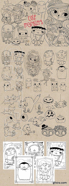CM - Cute Monsters Stamp Bundle 720604