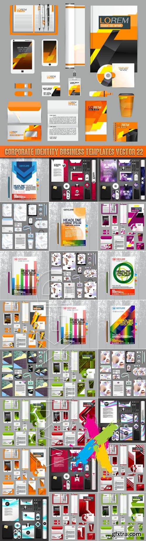 Corporate identity business templates vector 22