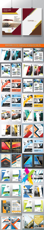 Brochure flyer template design vector 20