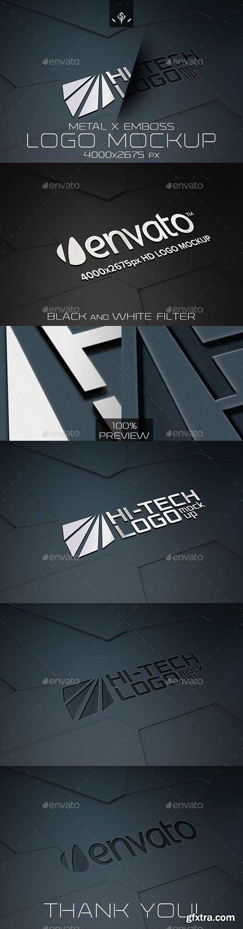 GraphicRiver - Hi-Tech Metal and Emboss Logo Mockup