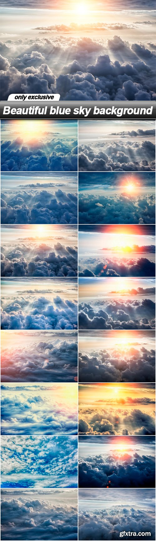 Beautiful blue sky background - 16 UHQ JPEG