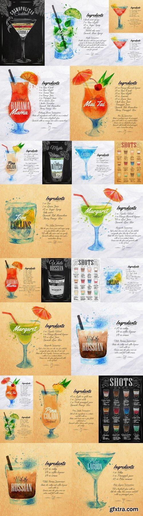 Shots menu chalk