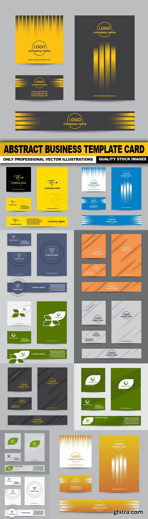 Abstract Business Template Card - 12 Vector