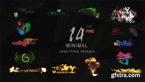 Videohive - Minimal Ink & fire Logo/Title Reveals Package - 12131344
