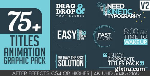 Videohive - Titles Animation Graphic Pack V2 - 15931067