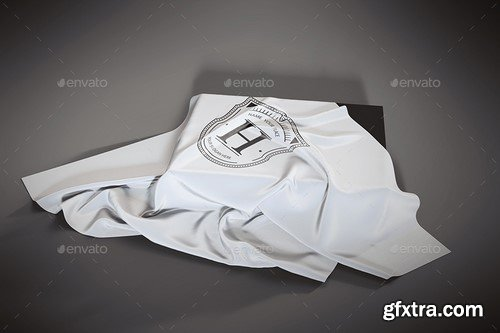 Graphicriver - Logo Mockup on Covered Box with Fabric - 16729532