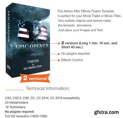 Videohive Epic Opener 16267620