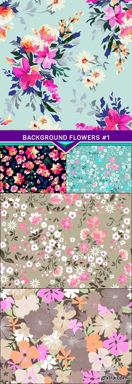 Background flowers #1 5x EPS