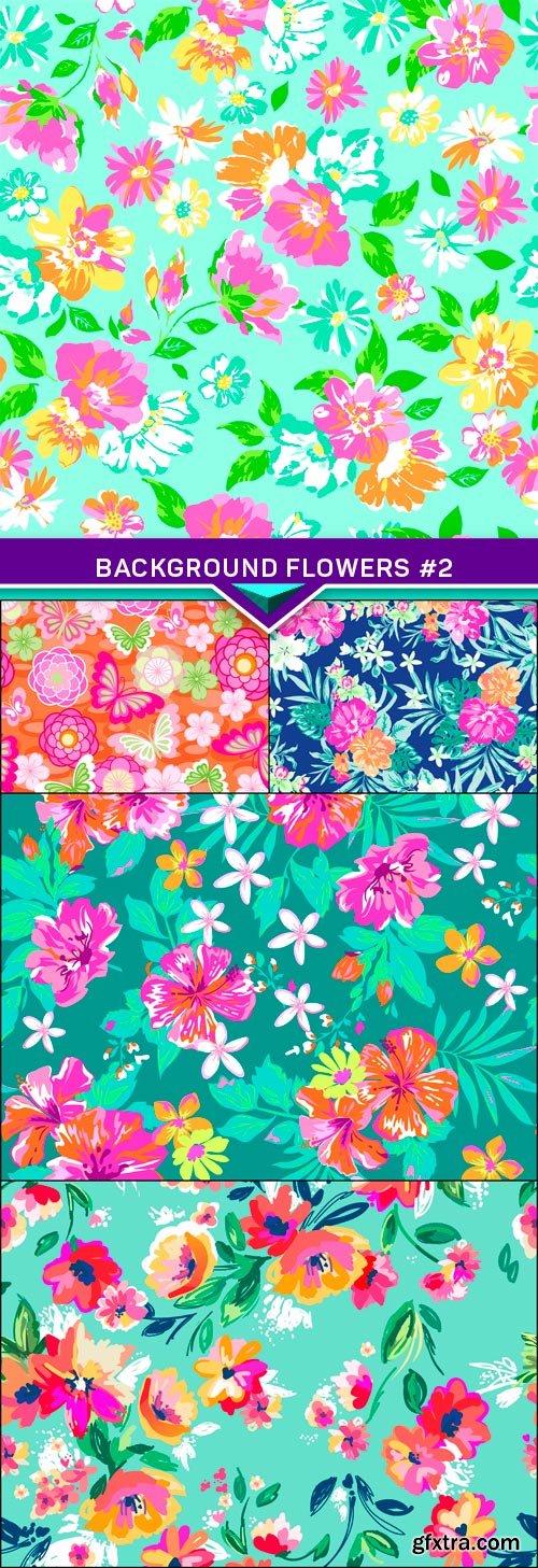 Background flowers #2 5x EPS