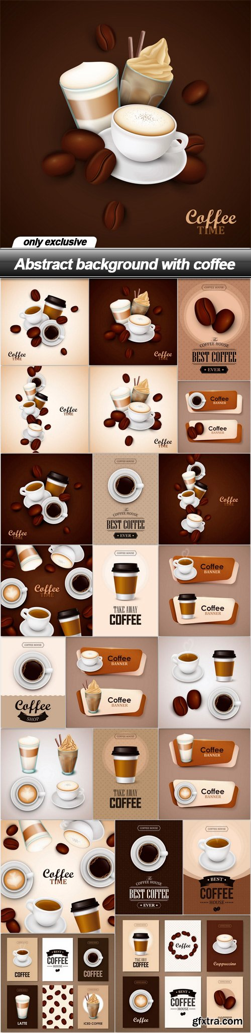 Abstract background with coffee - 23 EPS