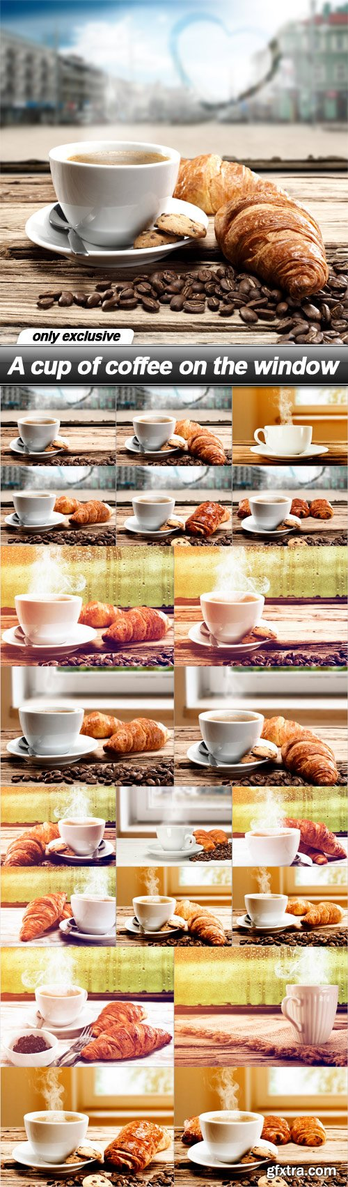 A cup of coffee on the window - 20 UHQ JPEG