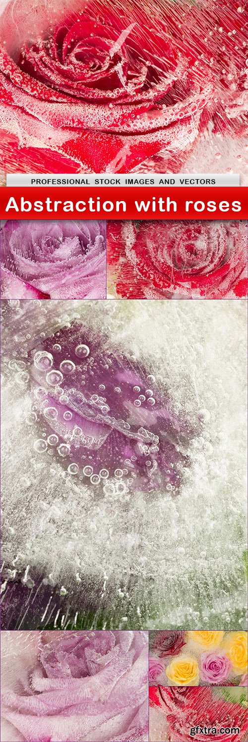 Abstraction with roses - 7 UHQ JPEG