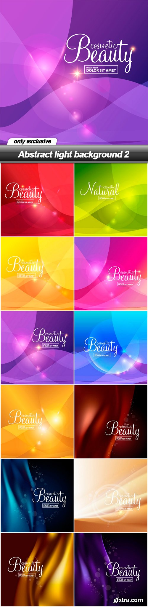 Abstract light background 2 - 12 EPS