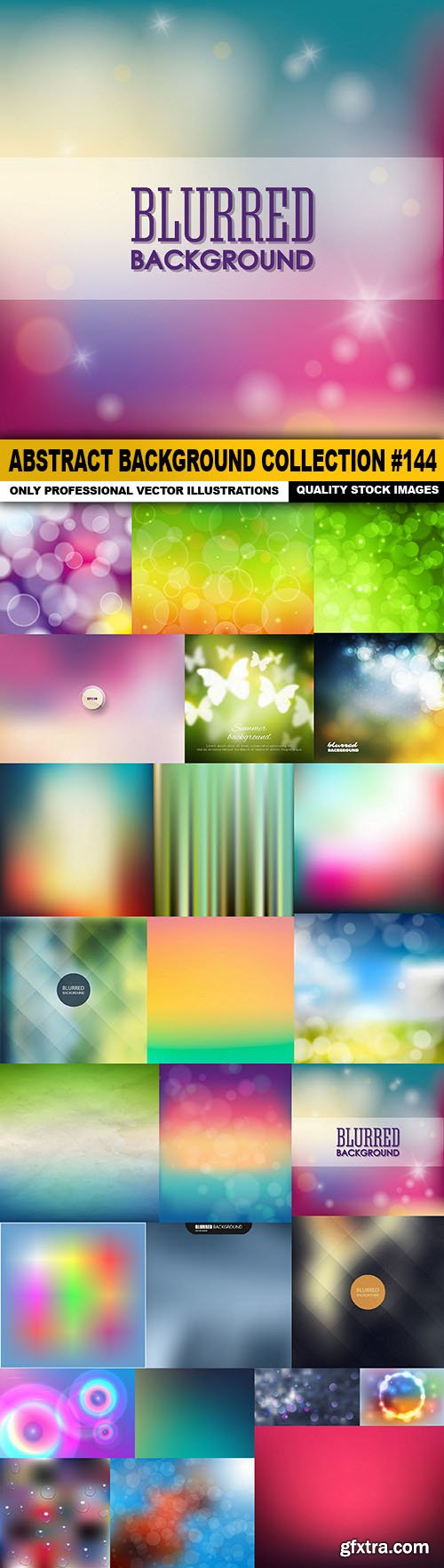 Abstract Background Collection #144 - 25 Vector