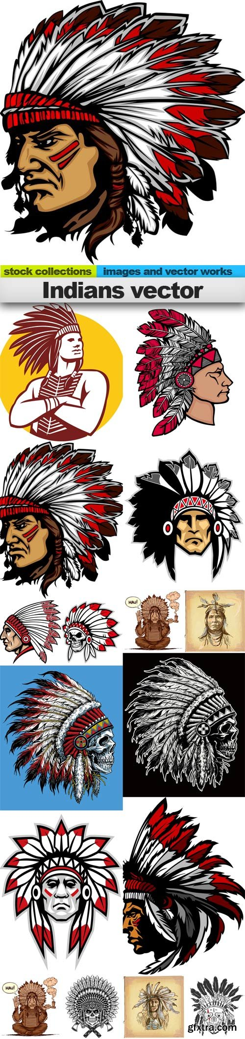 Indians vector, 15 x EPS
