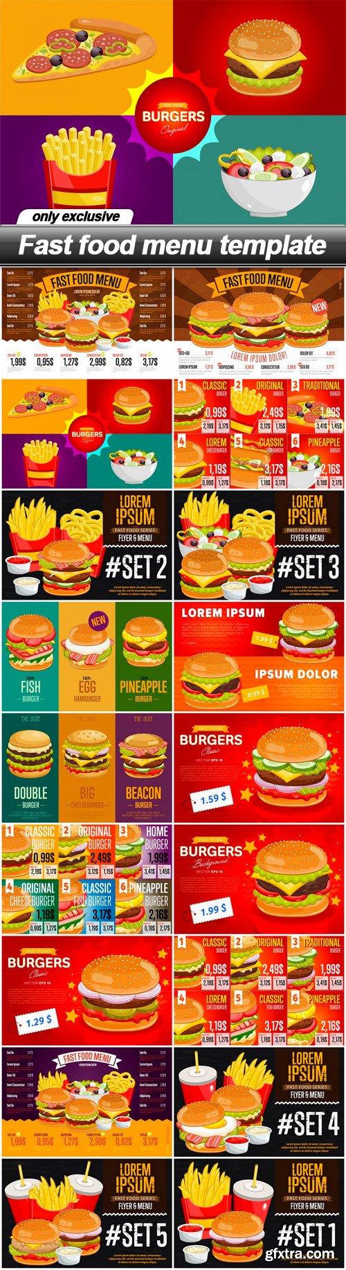 Fast food menu template - 18 EPS