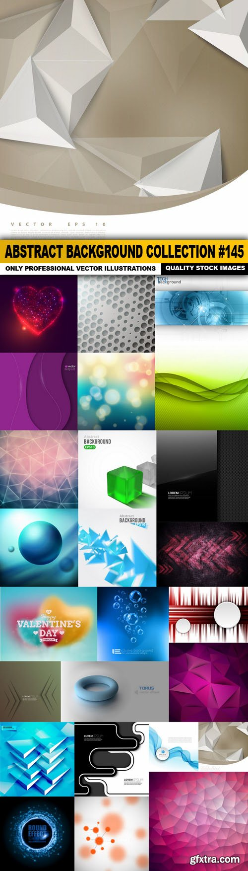 Abstract Background Collection #145 - 25 Vector