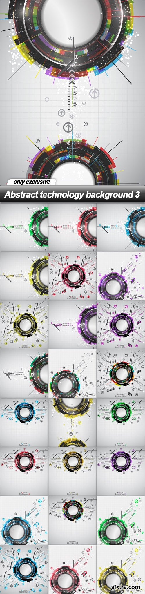 Abstract technology background 3 - 25 EPS