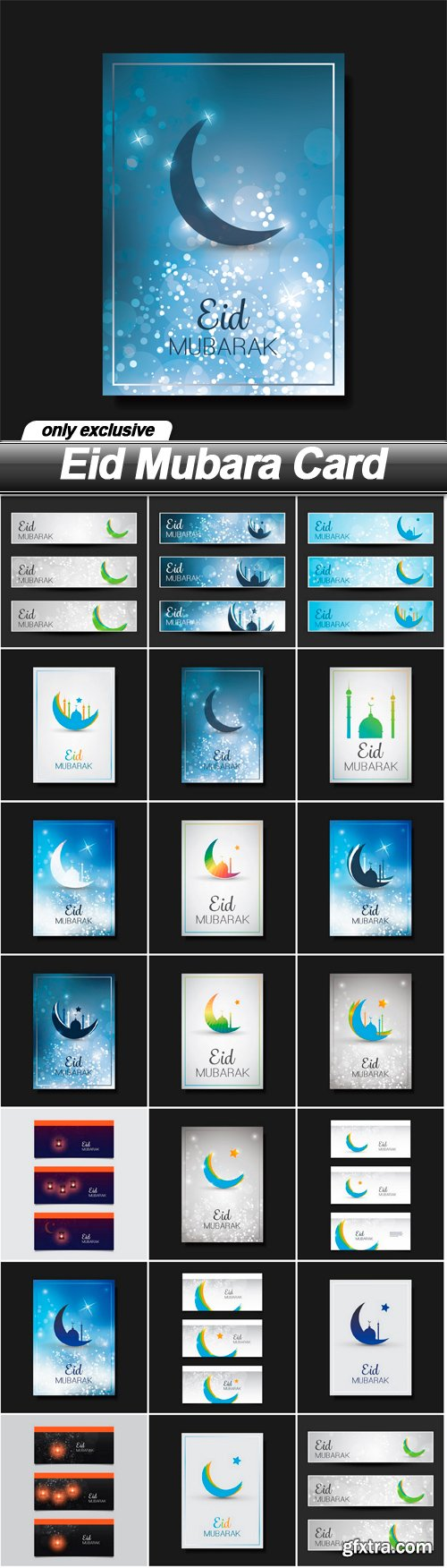 Eid Mubara Card - 20 EPS