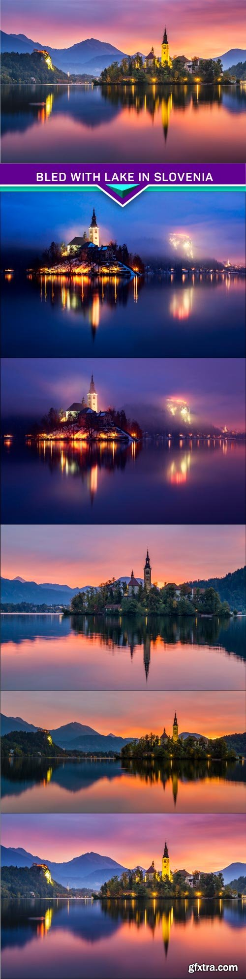 Bled with lake in Slovenia Europe 5x JPEG